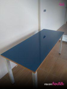 กระจกท็อปโต๊ะ วางทับโต๊ะเดิม