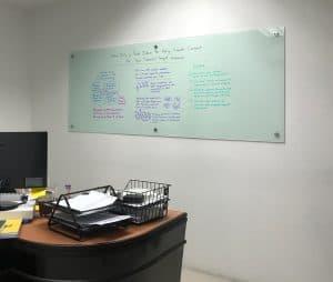 glass whiteboard office