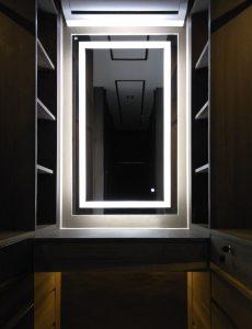 กระจกเงามีไฟโต๊ะแต่งตัว