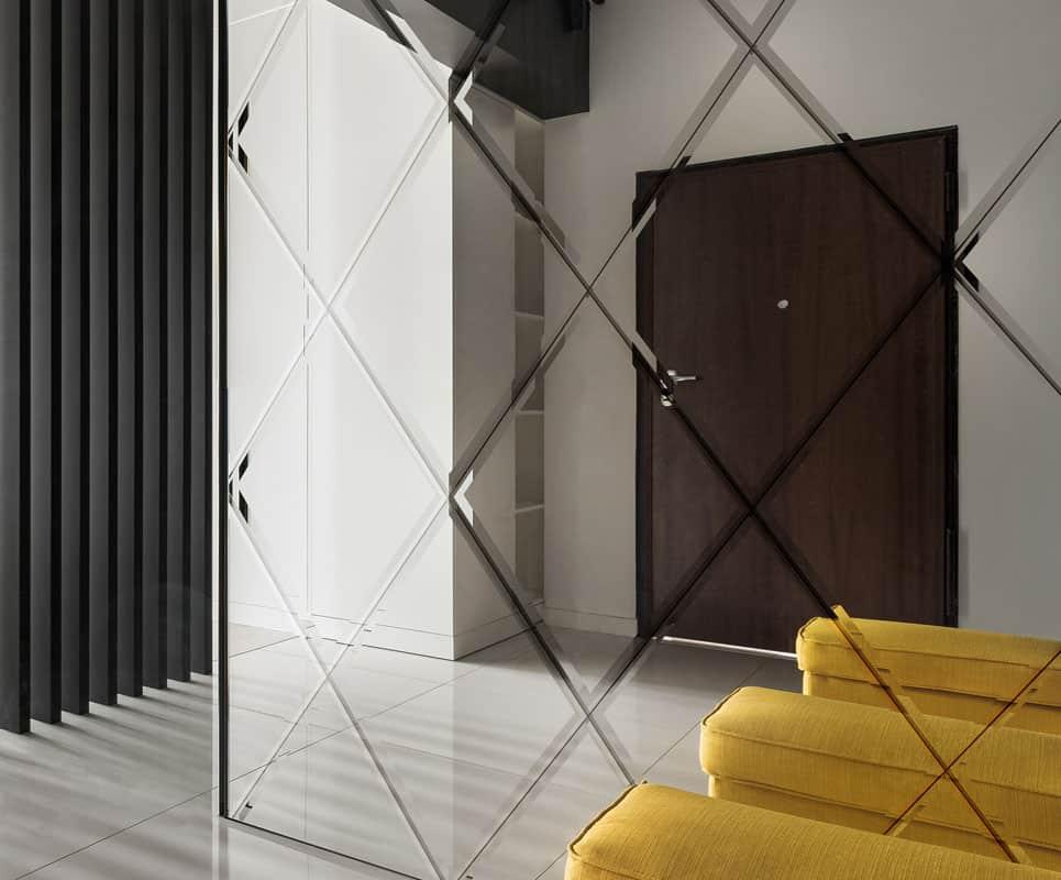 รูปแบบการต่อเรียงกระจกเงาเจียรปลีแบบไดมอน