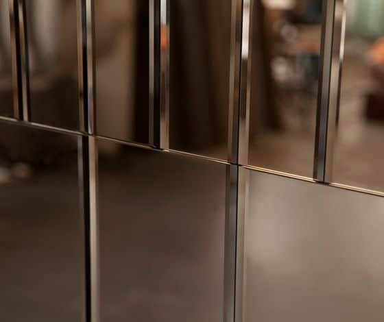 กระจกเงาสี bronze สี copper
