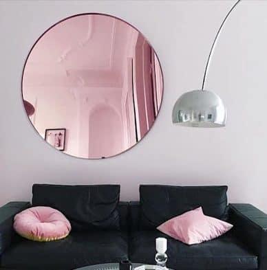 กระจกเงา pink gold