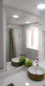 ิbathroom mirror with frame