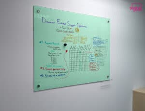 magnetic glass whiteboard office