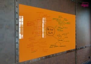 ไวท์บอร์ดกระจกสีส้ม