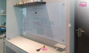 magnetic glass whiteboard home office