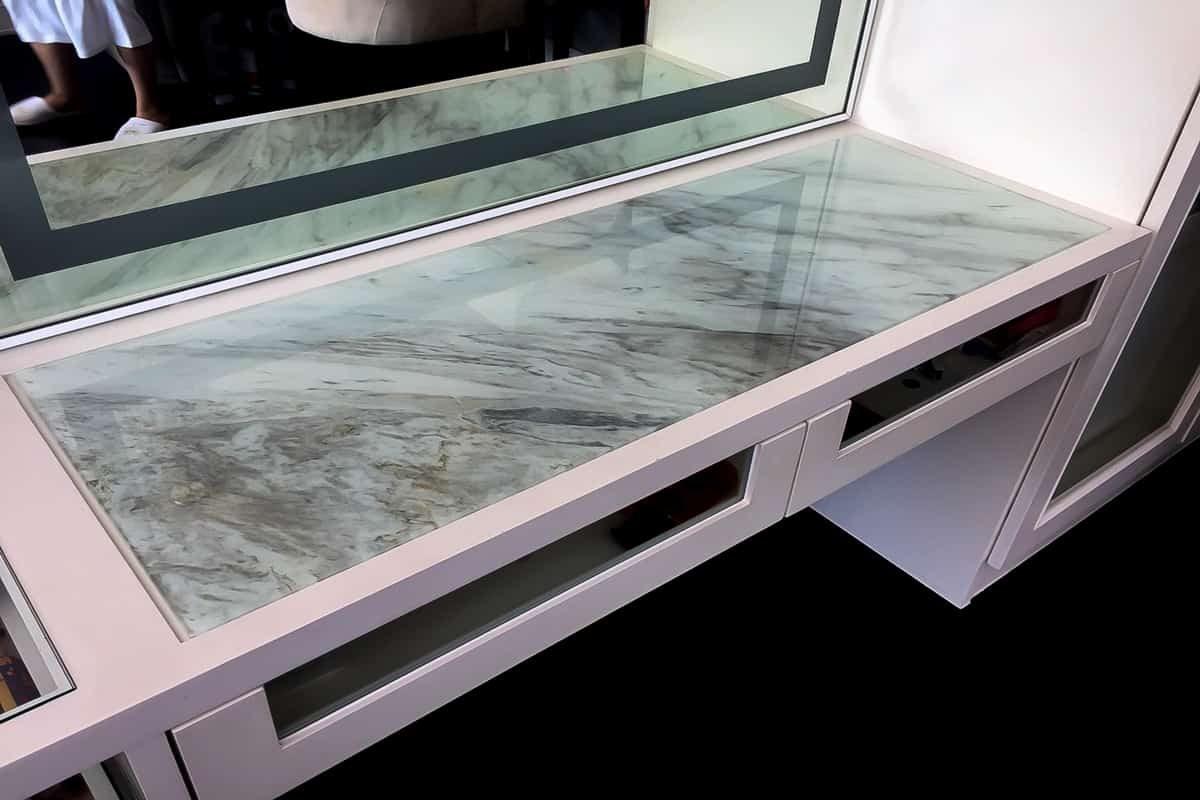 กระจกท็อปโต๊ะ ลายหินอ่อน mm-02